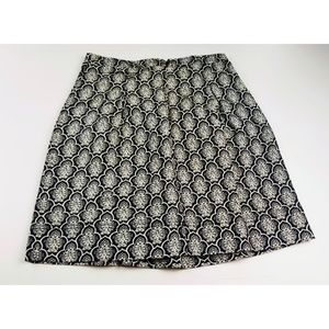 Ann Taylor loft size 0 skirt black white nwt